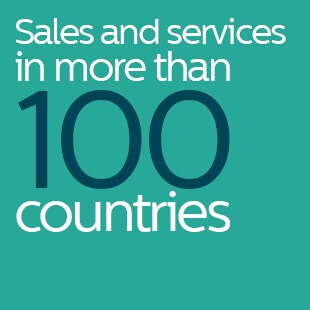 Sales and services in more than 100 countries