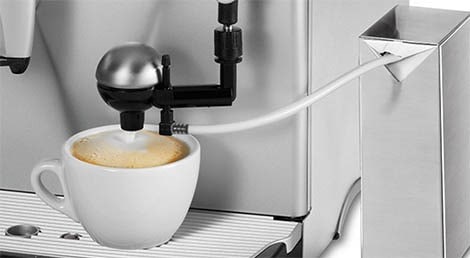 Saeco's first automatic milk frother, the Cappuccinatore (1996)