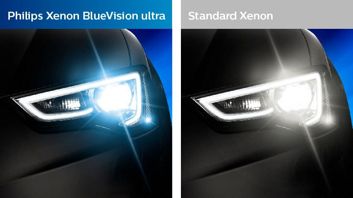 Xenon bluevision ultra compared to standard vision