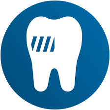 Electric tootbrush plaque removal icon