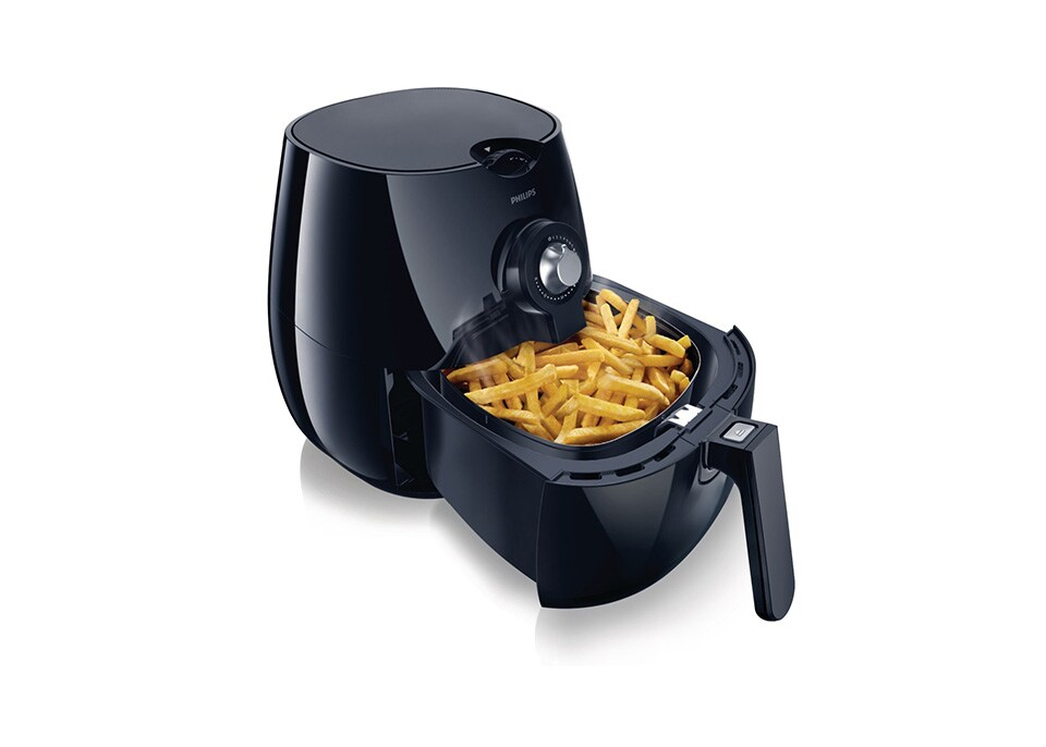 Airfryer oil less frying with air philips for Fish fry oil temp