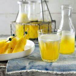 Non-alcoholic kids' cocktail with pineapple