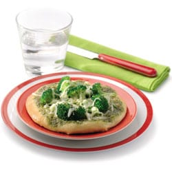 Mini pizza basilic et broccoli